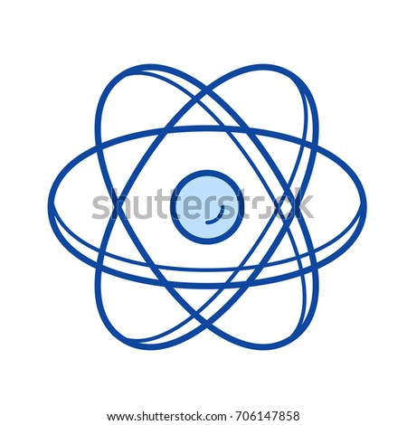 Atom structure vector line icon isolated stock vector 706147858 atom structure vector line icon isolated on white background atom structure line icon for infographic ccuart Gallery