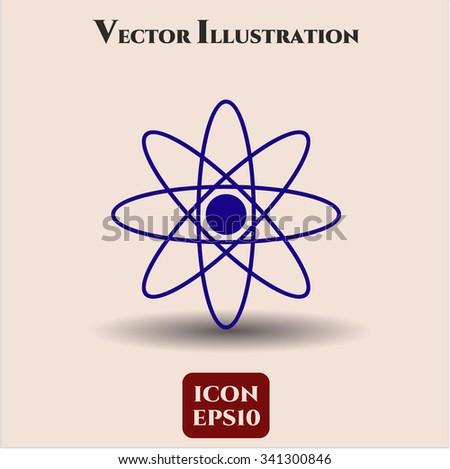 Atom vector icon - stock vector