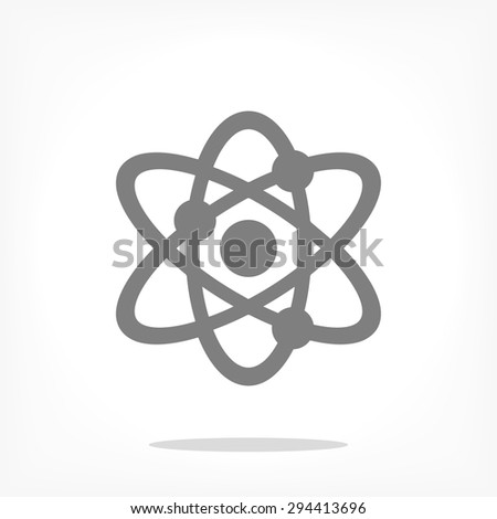 atom .VECTOR ICON 10 eps - stock vector