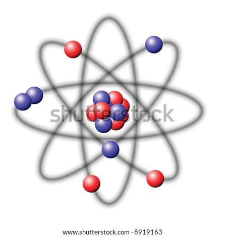 Atom - vector illustration - stock vector
