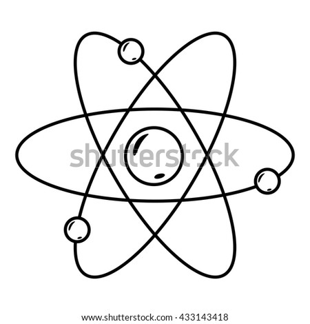 Atom nucleus electrons line icon atom stock vector royalty free atom with nucleus and electrons line icon of atom structure vector illustration ccuart Images
