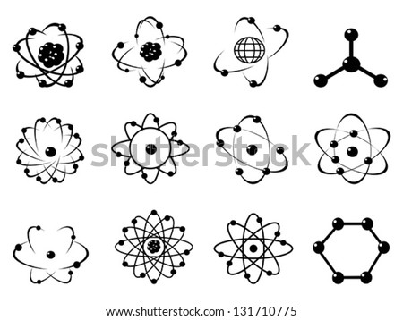 Atomic icons stock vector hd royalty free 131710775 shutterstock ccuart Image collections