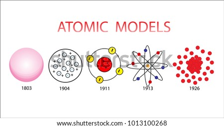 Atomic model physics atom diagram stock vector royalty free atomic model physics atom diagram ccuart Images