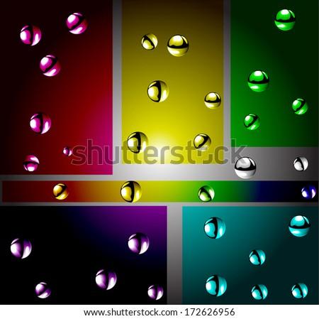 atoms color  vector illustration - stock vector