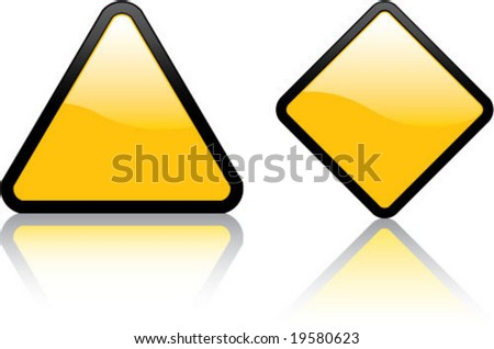 Attention Blank Signs - stock vector