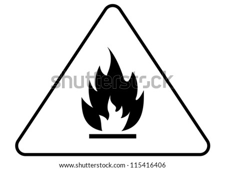 Attention fire sign - stock vector