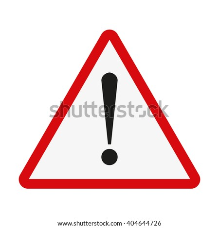 Attention  sign. Exclamation point. Vector illustration - stock vector