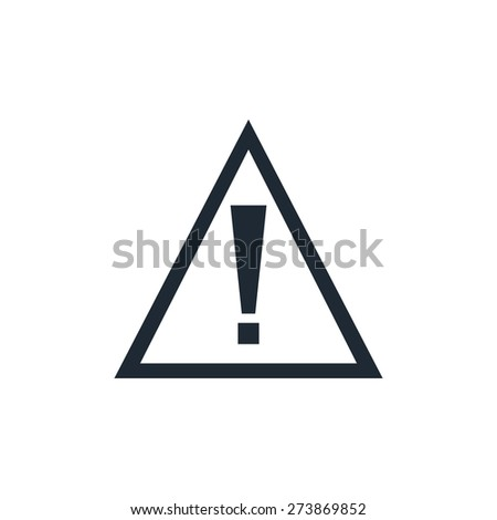 attention sign icon - stock vector