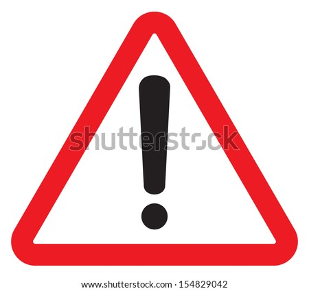 Attention sign with exclamation mark symbol - stock vector