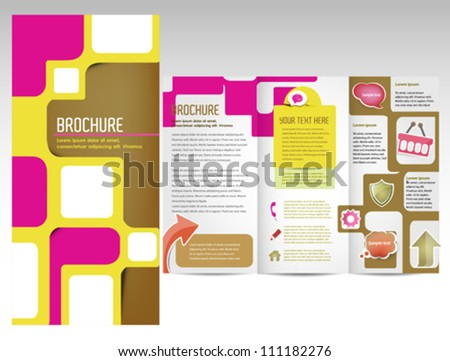 Attractive brochure template with inner pages for document, publishing and presentation - stock vector