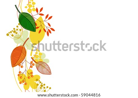 atumnall leaves - stock vector