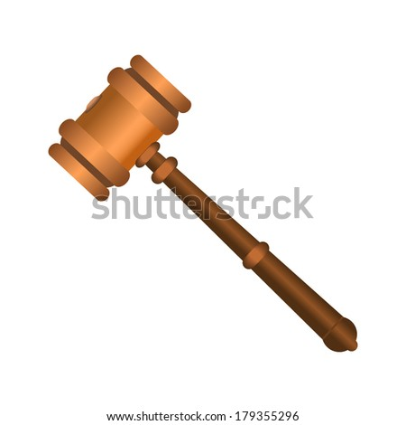 Auction Gavel Icon - stock vector