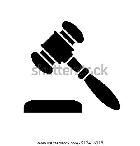 Auction Judge Gavel Icon Black Minimalist Stock Vector ...