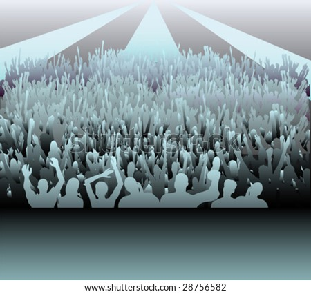 Audience - stock vector