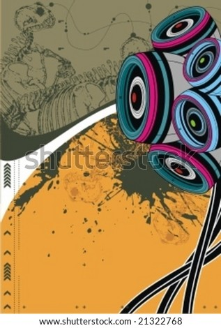 audio background - stock vector