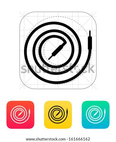 Audio cable icon. Vector illustration. - stock vector