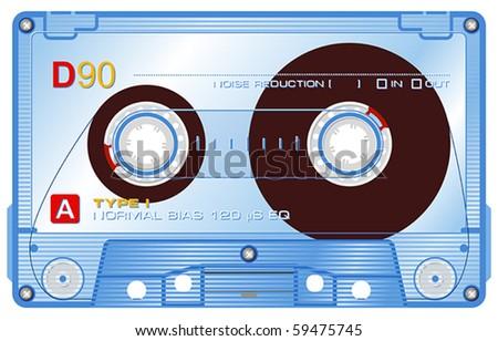 Audio cassette - stock vector