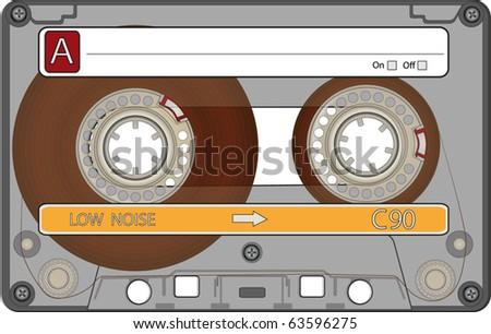 Audio Cassette Tape - stock vector