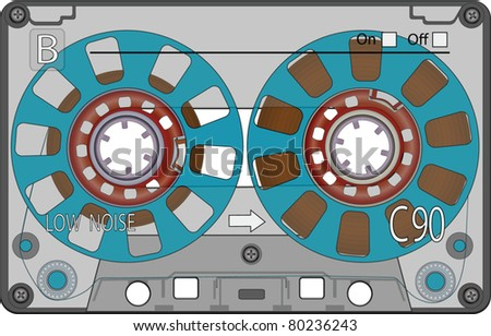 Audio Cassette Tape EPS10 - stock vector