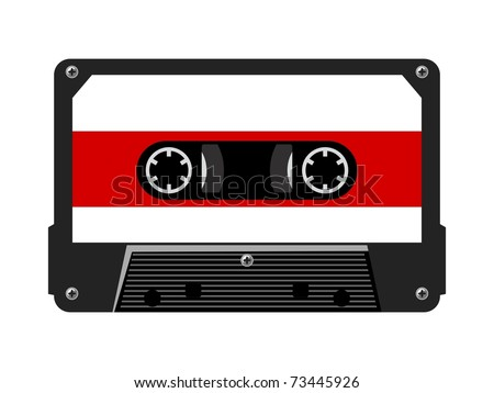 Audio cassette. Vector