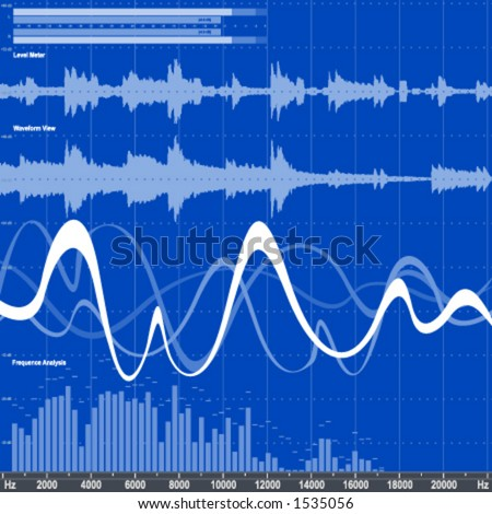 Audio Equalizer - stock vector