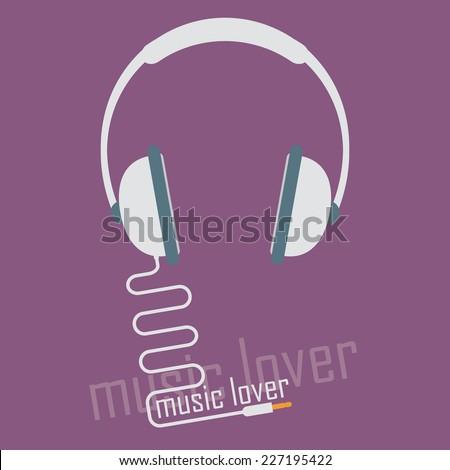 Audio headphone icon - stock vector
