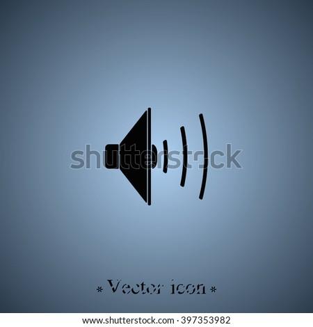Audio speaker icon. - stock vector