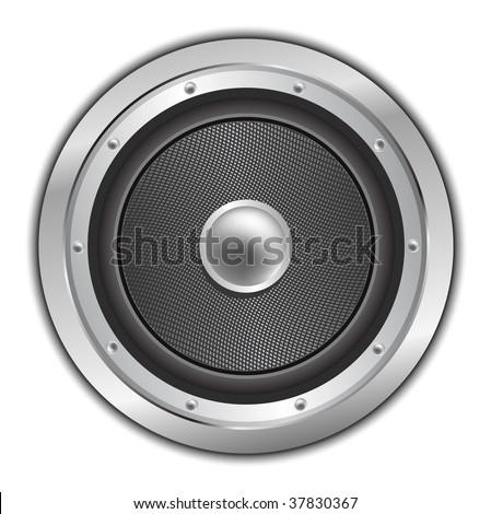 Audio speaker. Vector icon - stock vector