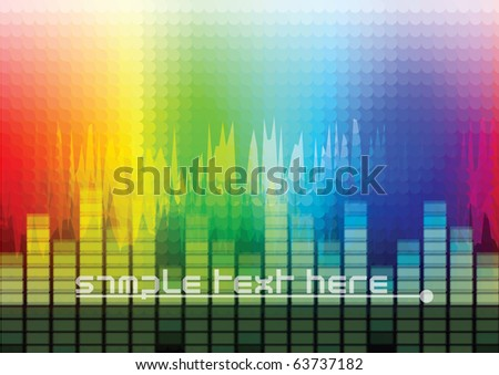 Audio Wave Background - stock vector