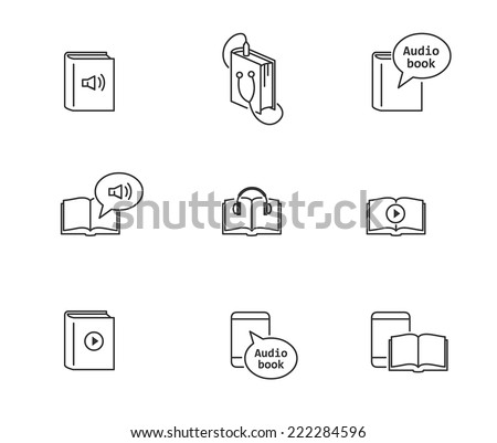 Audiobook and ebook icons - stock vector