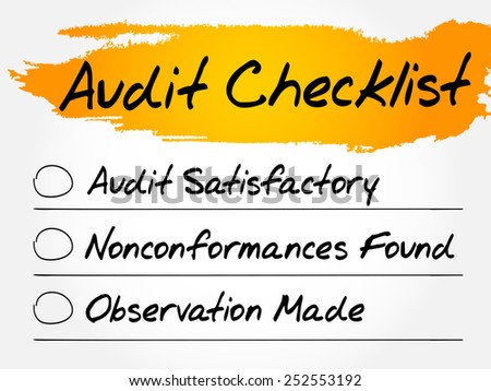 Audit Checklist, finance business concept - stock vector
