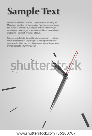 Austere time concept vector background with copyspace for title page. - stock vector