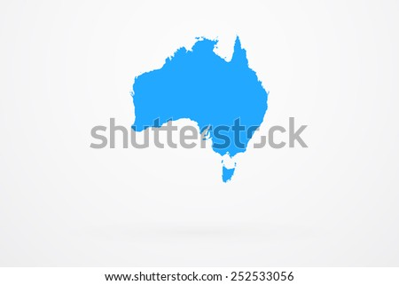 Australia Continent Map - stock vector