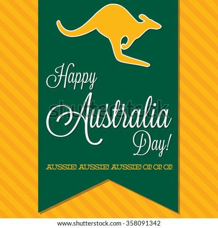 Australia Day sash card in vector format. - stock vector