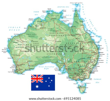 Australia detailed topographic map vector illustration vector de australia detailed topographic map vector illustration gumiabroncs Choice Image