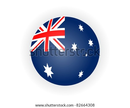 Australia flag - stock vector