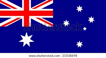 Australia flag isolated vector illustration - stock vector
