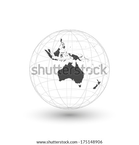 Australia map background vector - stock vector