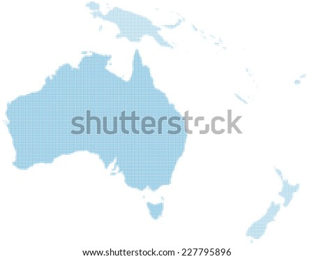 Australia map with dot. - stock vector