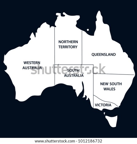 australia map with states
