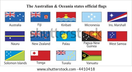 Australia & Oceania States Official Flags
