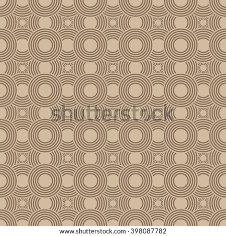 Australian  aboriginal geometric art concentric circles seamless pattern , vector