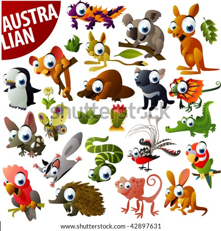 Australian animals stock images royalty free images vectors australian animals big vector set sciox Gallery