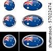Australian Flag Buttons - stock vector