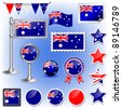 australian flag vector - stock photo