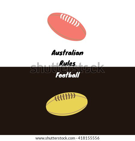 Australian rules football's - also called footy, or Aussie rules - ball icon for a day and a night games. Vector sport illustration. - stock vector