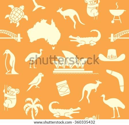 Australian seamless pattern - stock vector