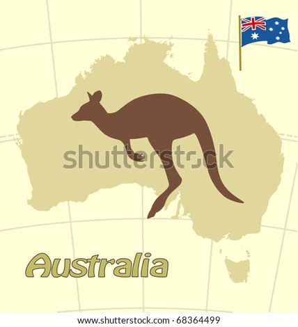 Australian set - stock vector