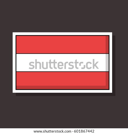 Austria flag design vector sticker