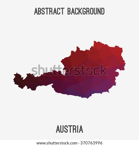 Austria in geometric polygonal style.Abstract tessellation,modern design background. Vector illustration EPS8 - stock vector